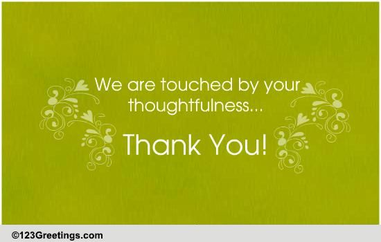 Touched By Your Thoughtfulness Free Wedding Amp Anniversary Ecards 123 Greetings