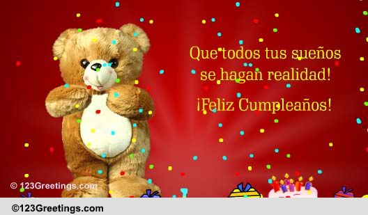 Spanish Cumpleaos Cards Free Spanish Cumpleaos Wishes
