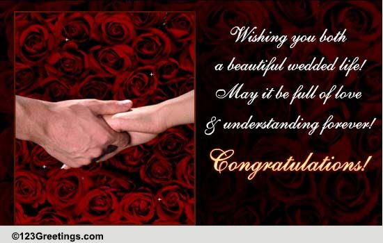 Wishing You Both Free Congratulations ECards Greeting Cards 123 Greetings