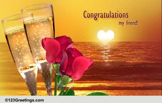 Congratulations My Friend Free Wedding Etc ECards Greeting Cards 123 Greetings