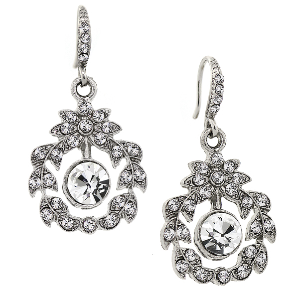 Downton Abbey® Boxed Silver-Tone Crystal Garland Drop Earrings