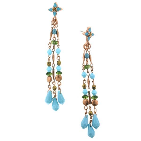 Azteca Turquoise Dangle Earrings