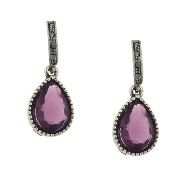 Morado Jewel Purple Drop Earrings