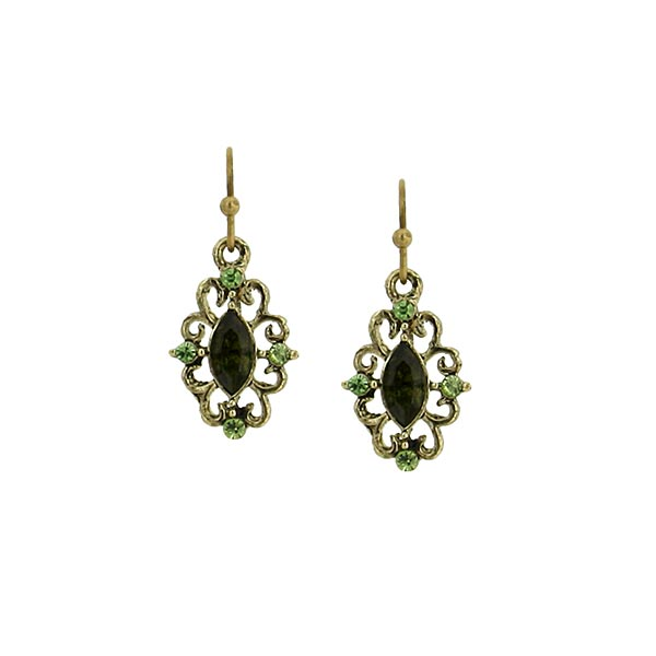 Swirly Antique Filigree Earrings