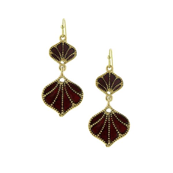 2028 Berry Seashell Dangle Earrings