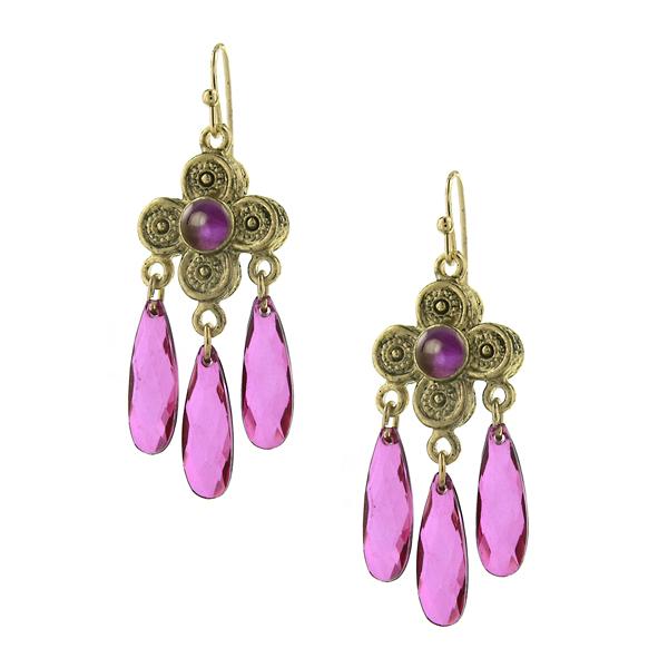 2028 Berry Blossom Chandelier Earrings