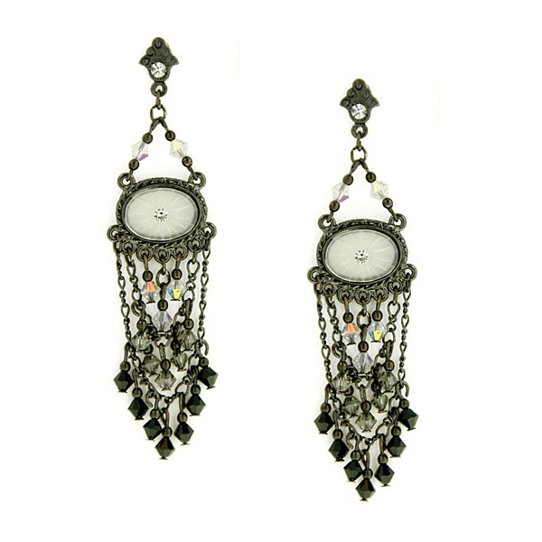 Antiquities Couture Vintage Glamour Crystal Drop Earrings