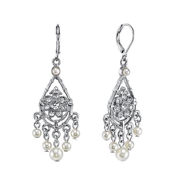 Bridal Crystal Fancy Chandelier Earrings