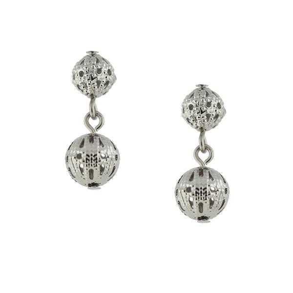 Alex Nicole® Heirlooms Filigree Ball Double Drop Earrings