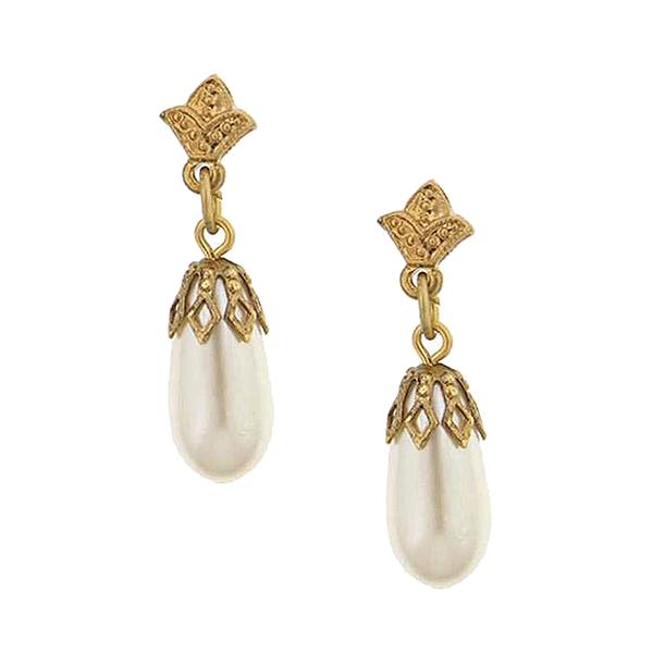 Her Majesties Pearl Drop Earrings