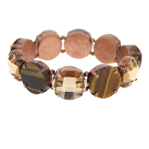 Amber Buds Stretch Bracelet
