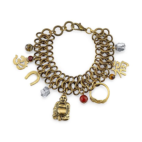 T.R.U. Lucky Gems Chunky Charm Bracelet