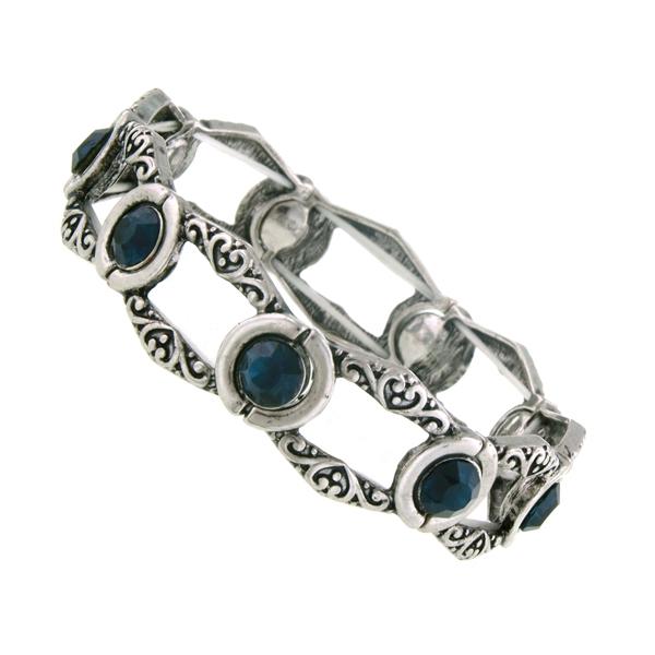 2028 Monaco Blue Jewel Bali Bracelet
