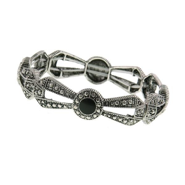 2028 Antique Marcasite Stretch Bracelet