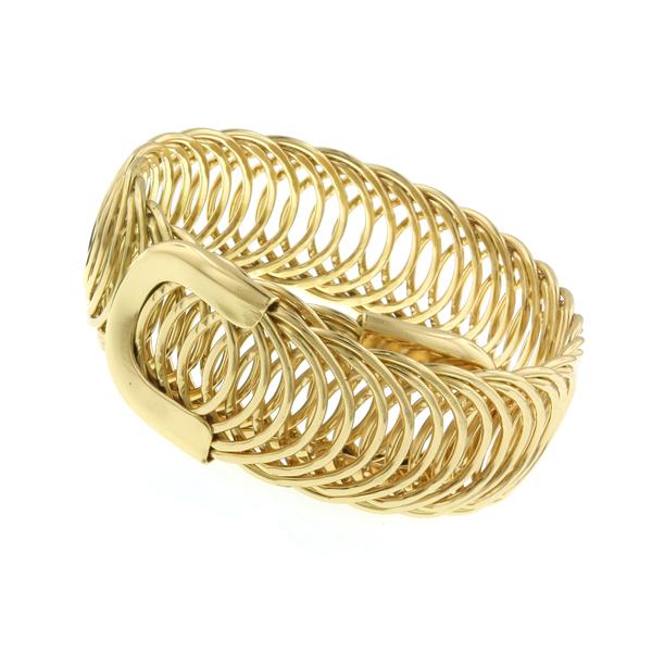 2028 Tailored Gold-Tone Belt Cuff Bracelet