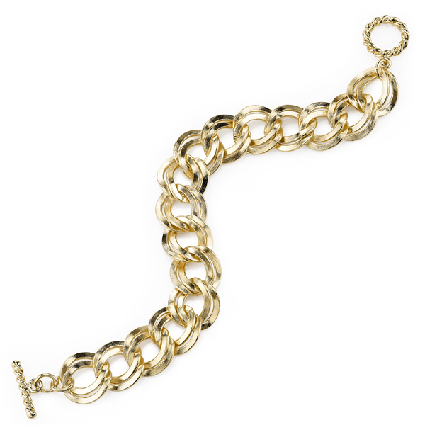 2028 Spring Tailored Gold-Tone Curb Chain Bracelet