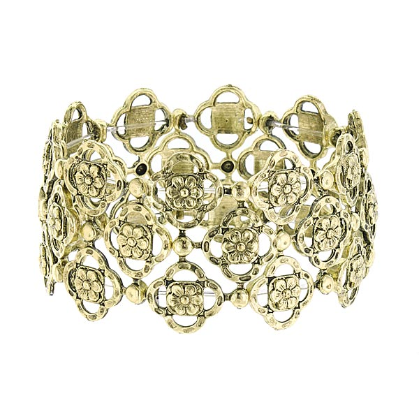 Felice in Brass Vintage Stretch Bracelet