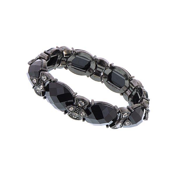 Black Vintage Glamour Angel Bow Bracelet