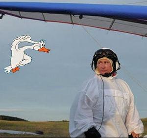Полёт Путина с журавлями — Абсурдопедия