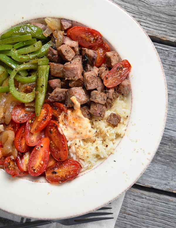 The Bama Beef Bowl is a pre-prepared meal offered by MealFIt.