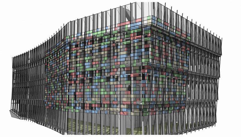Gambar perangkat lunak / program arsitektur BIM: Dynamo