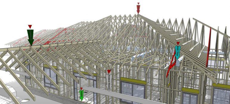 Gambar program perangkat lunak / arsitektur BIM: SketchUp