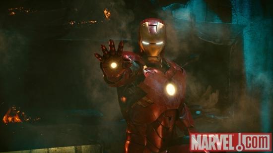 Iron Man, powered up in Iron Man 2