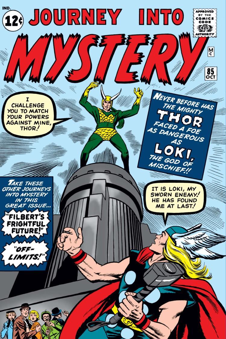 Loki en su primera aparición de los cómics
