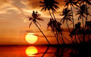 Обои природа, восходы, закаты, paradise, tropical, тропики ...