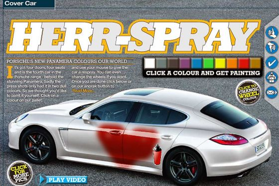 Porsche Panamera Als Malvorlage Graffiti Fr Den