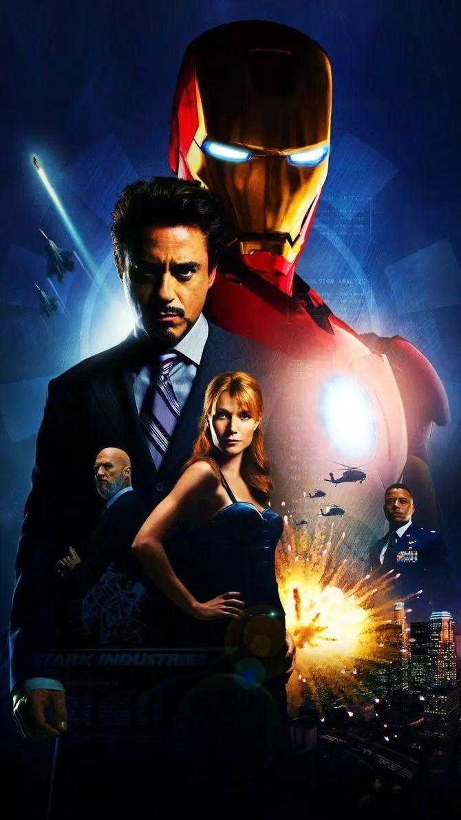 Poster Phim Iron Man 2008 (nguồn: internet)