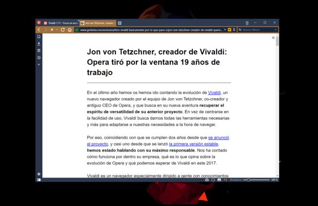 Permalink to Llega Vivaldi 1.11 con un modo de lectura avanzado, control sobre la reproducción de GIFs, y nuevo icono