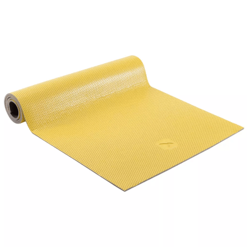 Pilates Mat Domyos 500 Toning Yellow Size M 7MM resistant to footwear