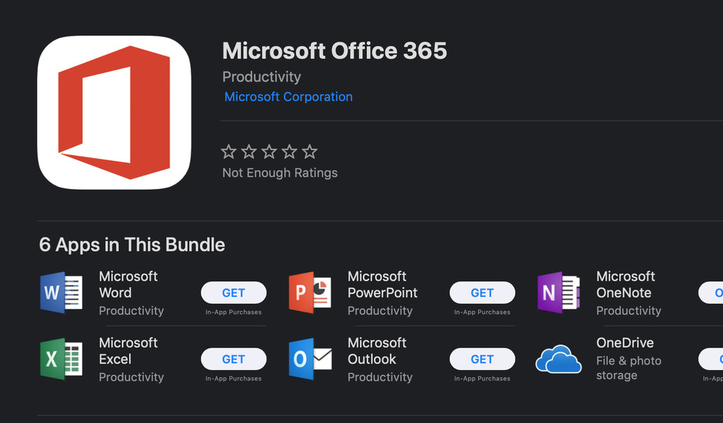 Microsoft Office ya disponible en la Mac App Store