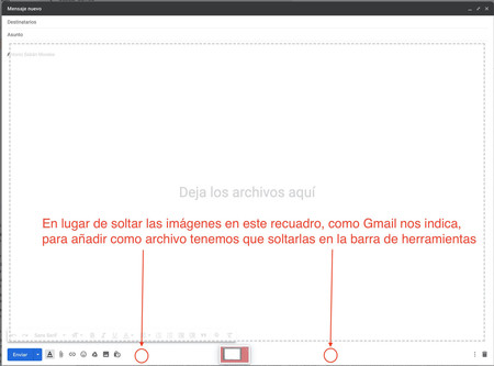 Arrastrar Archivo Gmail