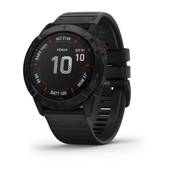 "Garmin Fénix 6X Pro Black - 1.4"", ABC sensors, Freq.  Cardiac, PacePro, Maps, GPS, ClimbPro, WiFi"