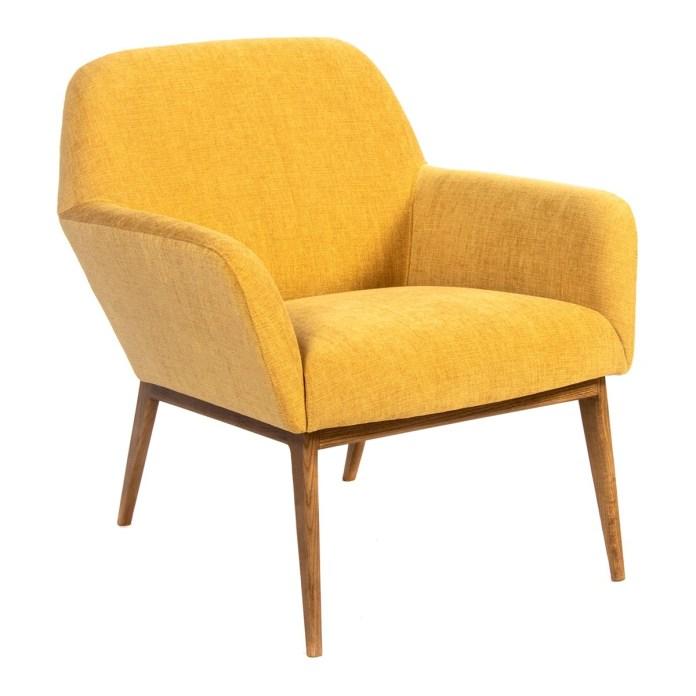 Low armchair with walnut wood legs Andy Room - El Corte Inglés