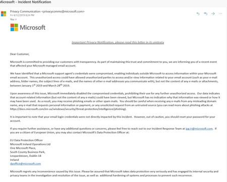 Microsoft Correo Hack