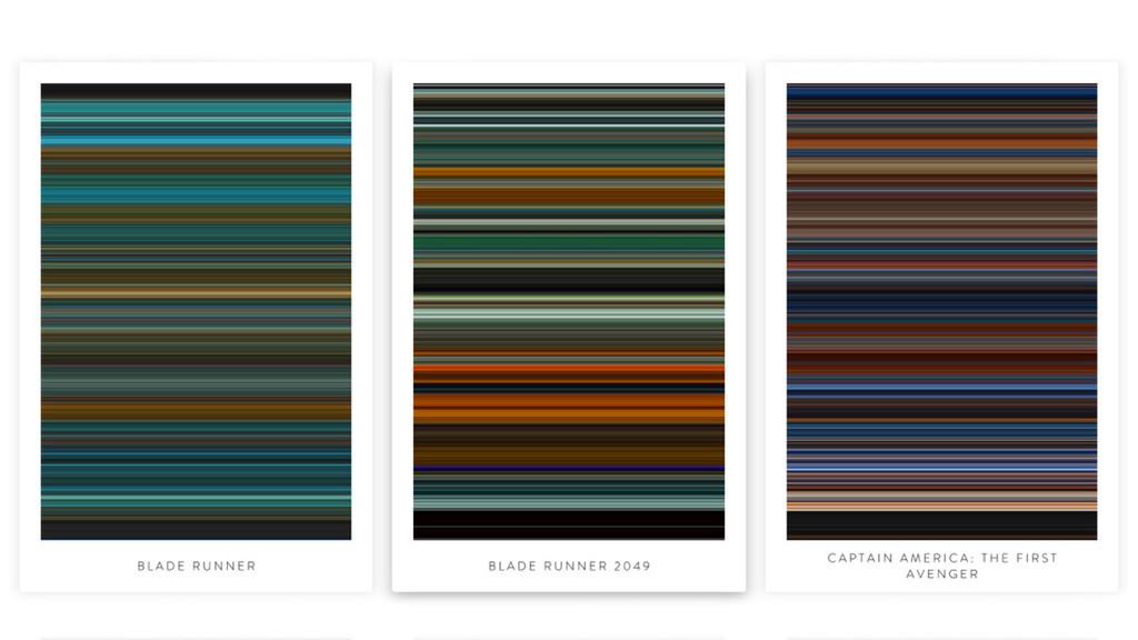 Permalink to Esta web resume las películas pósters de colores minimalistas
