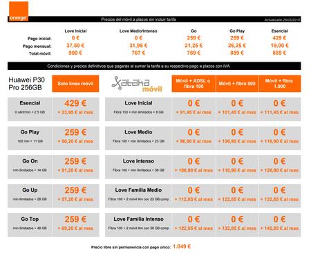Precios Huawei® P30 Pro 256gb Con Pago A Plazos Y Tarifas Orange