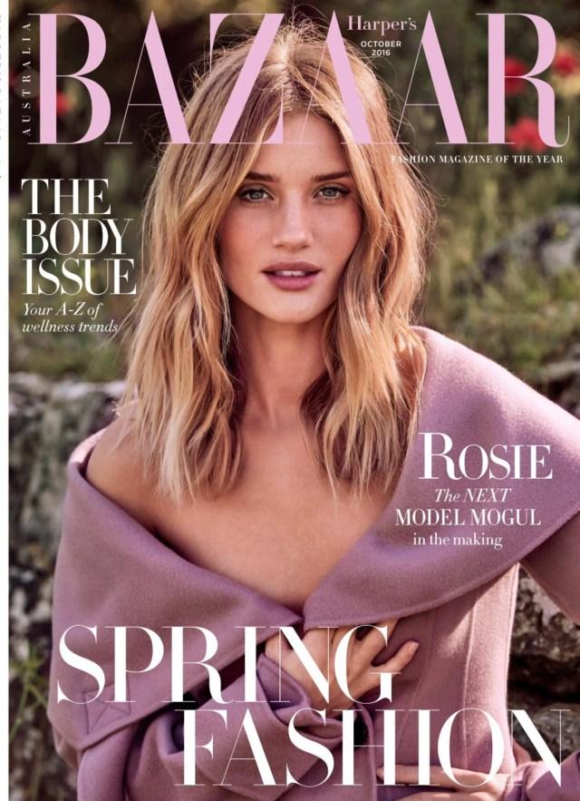 Harper's Bazaar Australia:  Rosie Huntington-Whiteley
