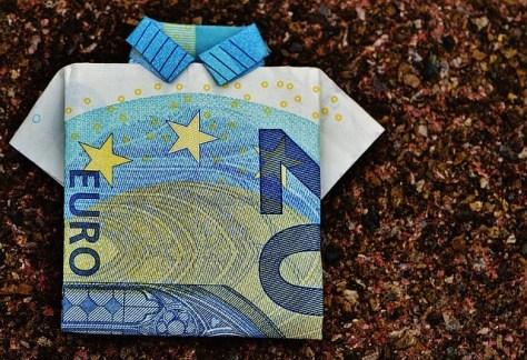 Billete de veinte euros con forma de jersey.