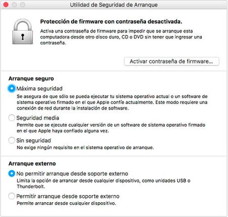 Utilidad De Seguridad De Arranque Mac Chip T2
