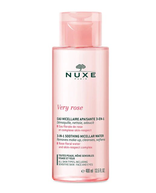 Soothing Micellar Water 3 In 1 Very Rose - All Skin 400 ml Nuxe