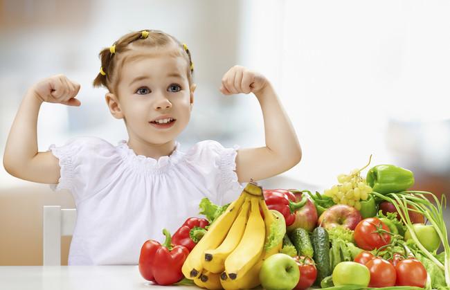 Diez raciones de fruta y verdura niños