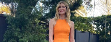 This is the dress (orange) Laura Dern has fallen in love with during the Critics' Choice Awards 2020