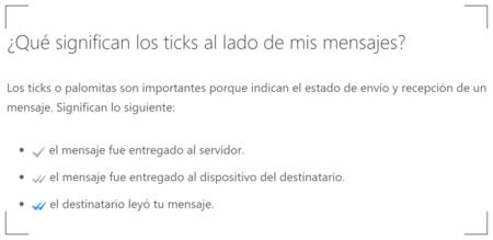 Ticks Whatsapp