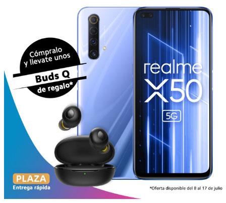 Preventa Realme X50 5G - 6 GB + 128 GB - Versión Española + Realme Buds Q Auriculares TWS