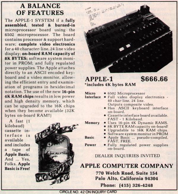 Apple 1 Ad