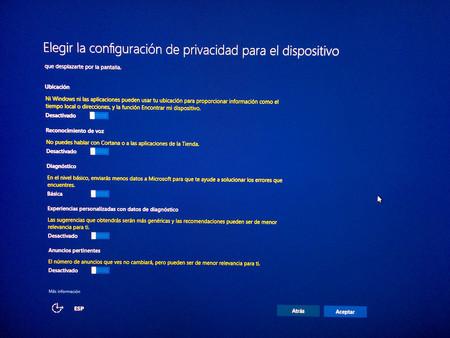 Windows 10 Creators Update Privacidad